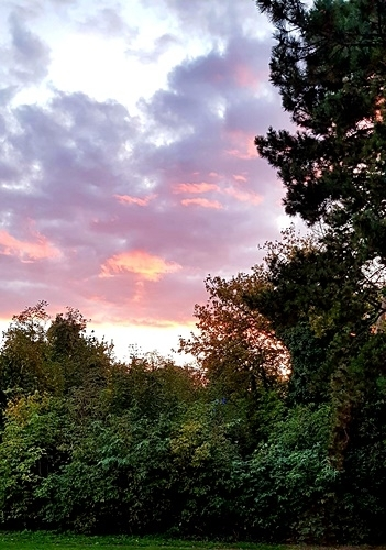 Sonne, Mond und Sterne 19.10.2021 - Sonnenuntergang am 17.10.
