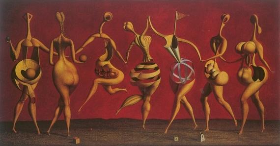 Rudolf_Hausner_Aporisches_Ballett
